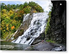 Ithaca Falls Acrylic Print by Christina Rollo