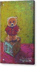 It's A Bear's World Acrylic Print by Tracy L Teeter