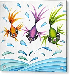 It's A Fun World Out There Acrylic Print by Oiyee At Oystudio