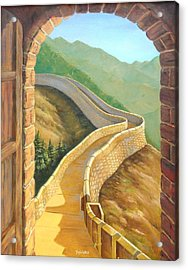 It's A Great Wall Acrylic Print by Tanja Ware