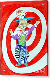 It's A Mad, Mad, Mad, Mad Tea Party -- Humorous Mad Hatter Portrait Acrylic Print