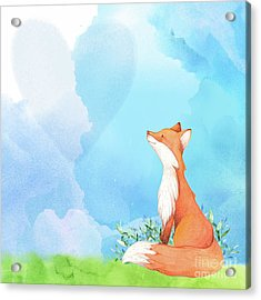 It's All Love Fox Love Acrylic Print by Tina Lavoie