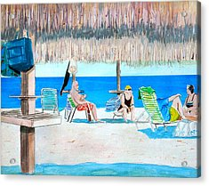 It's Always Sunny In Aruba Acrylic Print by Anthony Ross