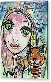 It's Amazing How Much I Love My Cat Acrylic Print by Laurie Maves ART