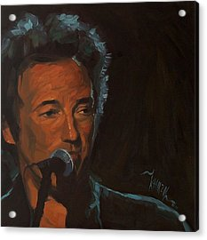 It's Boss Time - Bruce Springsteen Portrait Acrylic Print by Khairzul MG