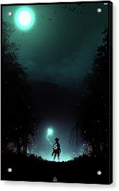 It's Dangerous To Go Alone Acrylic Print by Colin Morella