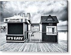 It's Easy On The Seaside Heights Boardwalk Acrylic Print