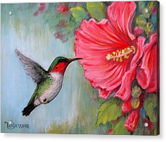 It's Hummer Time Acrylic Print by Tanja Ware