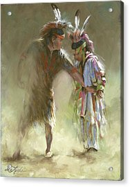 It's More Than Just The Footwork Acrylic Print by Mia DeLode