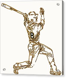 Buster Posey - Silver Slugger Award Winner And He Can Catch Too Acrylic Print