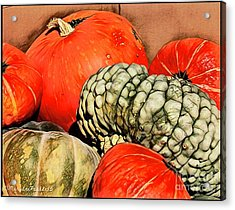 It's Pumpkin  Season Acrylic Print by MaryLee Parker