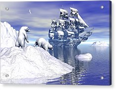 Its Really Cold Acrylic Print by Claude McCoy