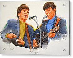Its Rock And Roll 4  - Everly Brothers Acrylic Print
