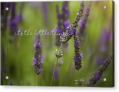 It's The Little Things Acrylic Print