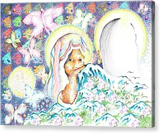 Itzpapalotl Y La Joven Virgin Acrylic Print