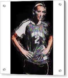 @iupui #soccer #futbol #painting Acrylic Print