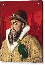 Ivan The Terrible Acrylic Print by English School