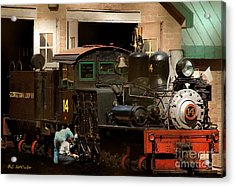 I've Been Working On The Railroad Acrylic Print by RC DeWinter