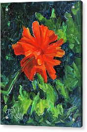 Acrylic Print featuring the painting I've Got My Red Dress On by Billie Colson