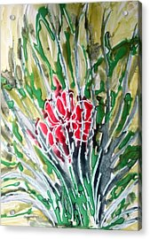 Ivine Flowers Acrylic Print by Baljit Chadha