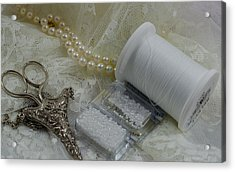 Ivory And Lace Acrylic Print