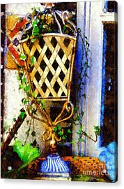 Ivy French Country White Acrylic Print by Janine Riley