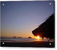 Acrylic Print featuring the photograph Ixtapa Sunset by Jack G  Brauer