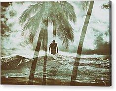Izzy Jive And Palms Acrylic Print
