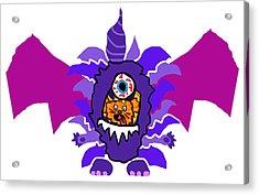 Izzy Purple People Eater Costume Acrylic Print by Jera Sky