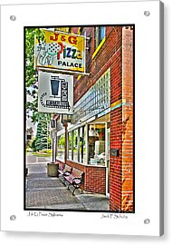 J And G Pizza Palace Acrylic Print