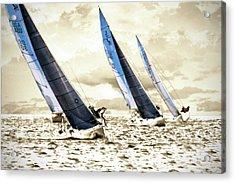 J Boats 2 Acrylic Print by Alan Hausenflock