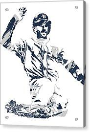 J D Martinez Detroit Tigers Pixel Art 1 Acrylic Print