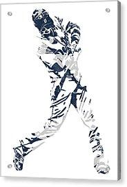 J D Martinez Detroit Tigers Pixel Art 3 Acrylic Print