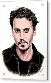 J Depp Colour 1 Acrylic Print by Andrew Read