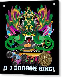 J Dragon King All Products Acrylic Print by Bill Campitelle