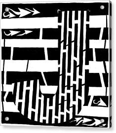 J Maze Acrylic Print by Yonatan Frimer Maze Artist