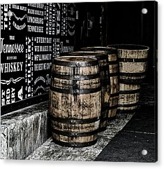 Jack Daniel's Tennessee Whiskey Barrels Acrylic Print