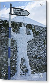 Jack Frost Got Lost Acrylic Print by Laura Horgan