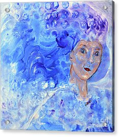 Acrylic Print featuring the painting Jack Frost's Girl by Claire Bull