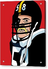 Jack Lambert Acrylic Print by Ron Magnes