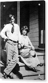 Jack London 1876-1916, American Author Acrylic Print by Everett