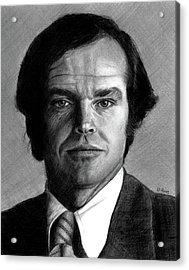 Jack Nicholson Portrait Acrylic Print