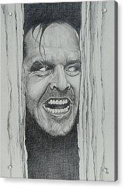 Jack Nicholson Acrylic Print by Stephen Sookoo