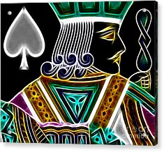 Jack Of Spades - V4 Acrylic Print by Wingsdomain Art and Photography