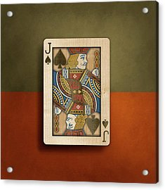 Jack Of Spades In Wood Acrylic Print by YoPedro