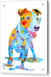 Jack Russell Terrier Colorful Painting Acrylic Print
