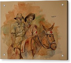 Acrylic Print featuring the painting Jack Simpson And Duffy by Ray Agius