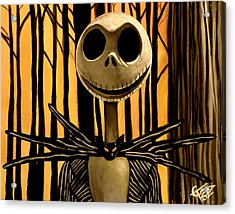Jack Skelington Acrylic Print by Tom Carlton