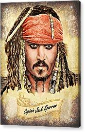 Jack Sparrow Colour 1 Acrylic Print by Andrew Read
