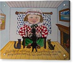 Jack Spratt Acrylic Print by Victoria Heryet
